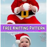 Knit Baby Santa Sweater Cardigan Free Knitting Patterns - Santa Baby Suit byLorna Miser