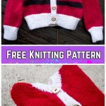 Knit Baby Santa Sweater Cardigan Free Knitting Patterns - Santa BabybyStephanie Mason
