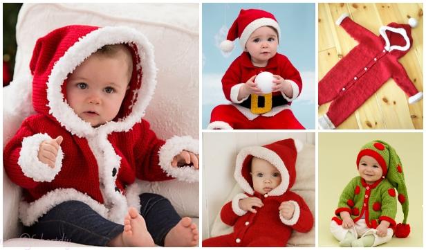 Knit Baby Santa Sweater Cardigan Free Knitting Patterns