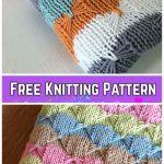 Knit Butterfly Stitch Blanket Free Knitting Pattern -Treetops Baby BlanketbyDarlene Dale