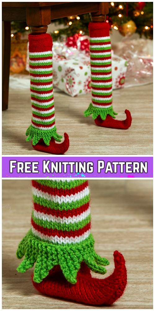 Knit Elf Shoe Table Leg Cover Free Knitting Pattern