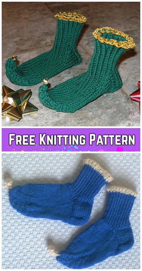 Knit Jingle Booties Free Knitting Pattern
