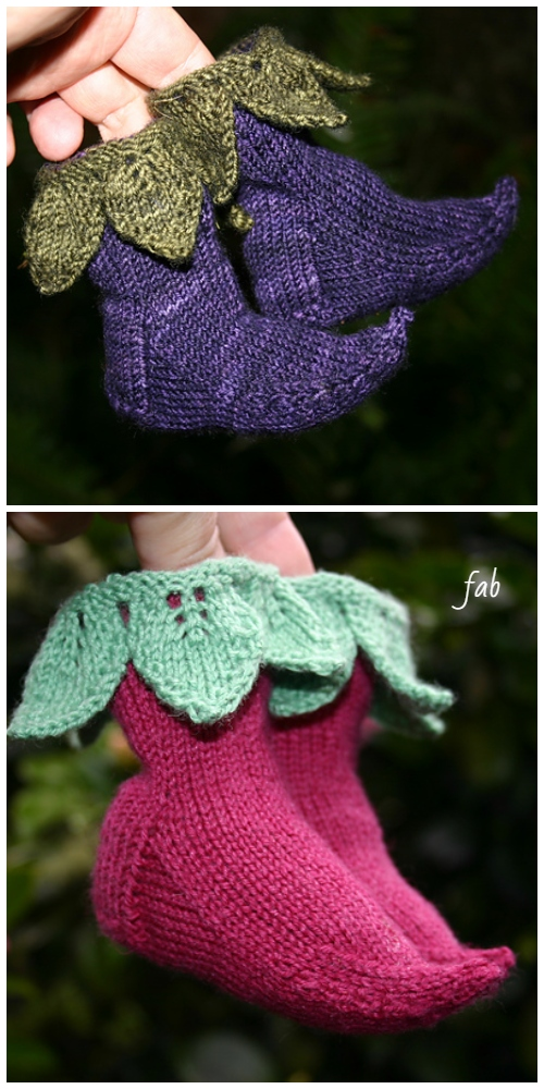 Knit Elvish Elf Baby Booties Knitting Pattern