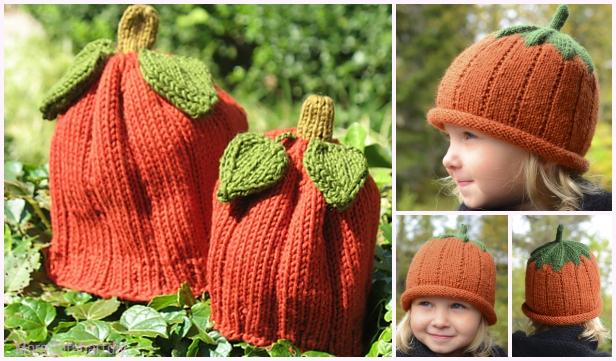 Knit Pumpkin Hat Free Knitting Patterns