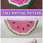 Knit Watermelon Clutch Purse Free Knitting Patterns