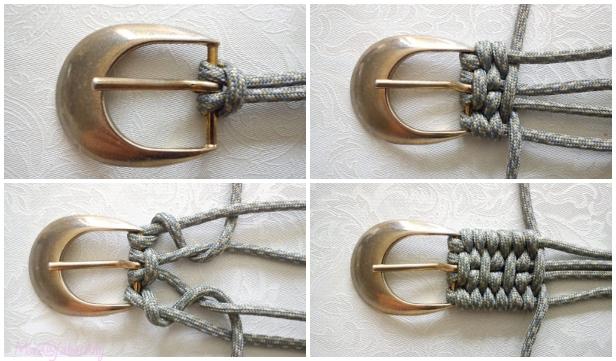How to Macrame Derweesh Paracord Belt DIY Tutorial