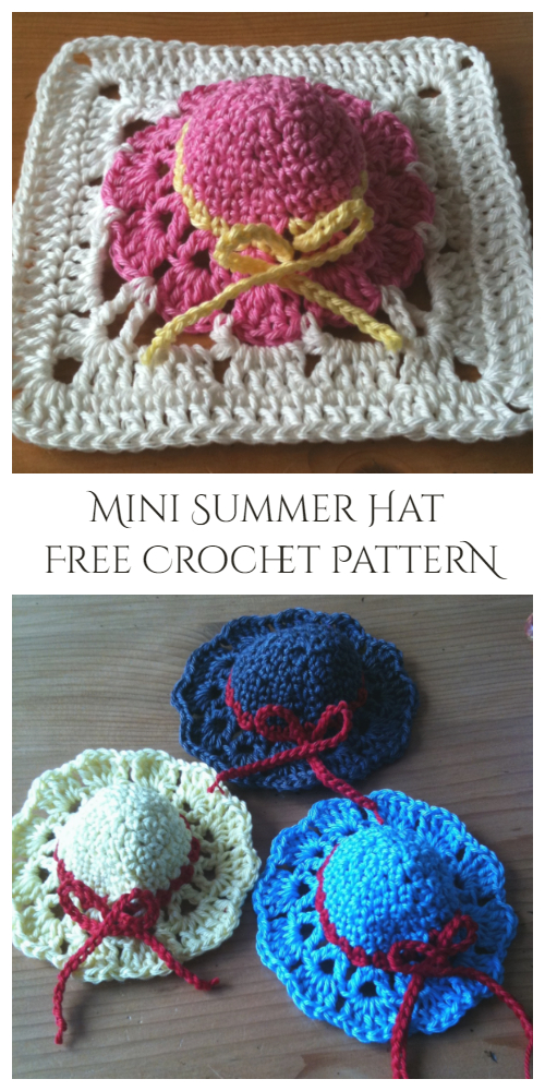 Mini Summer Hat Free Crochet Pattern