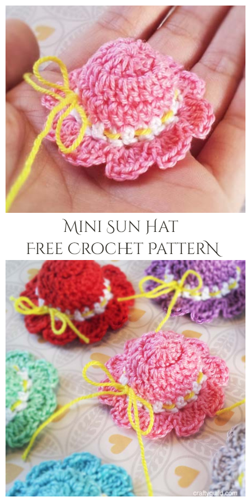 Mini Sun Hat Free Crochet Pattern + Video