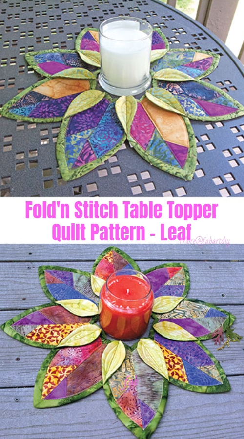 Sew Fold'n Stitch Leaf  Table Topper Quilt Pattern