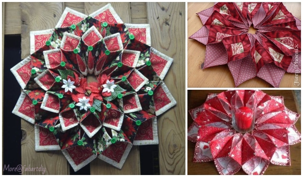 Sew Fold'n Stitch Leaf Table Topper Quilt Pattern
