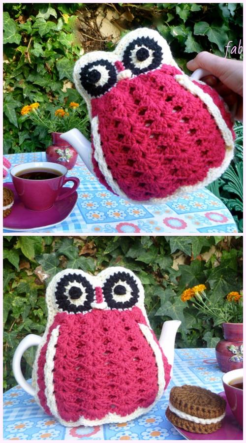 Vintage Crochet Owl Tea Cozies Crochet Pattern