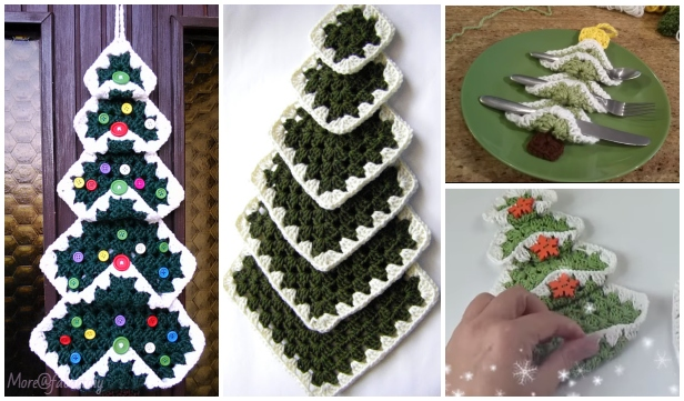 Vintage Granny Square Christmas Tree Free Crochet Pattern Video