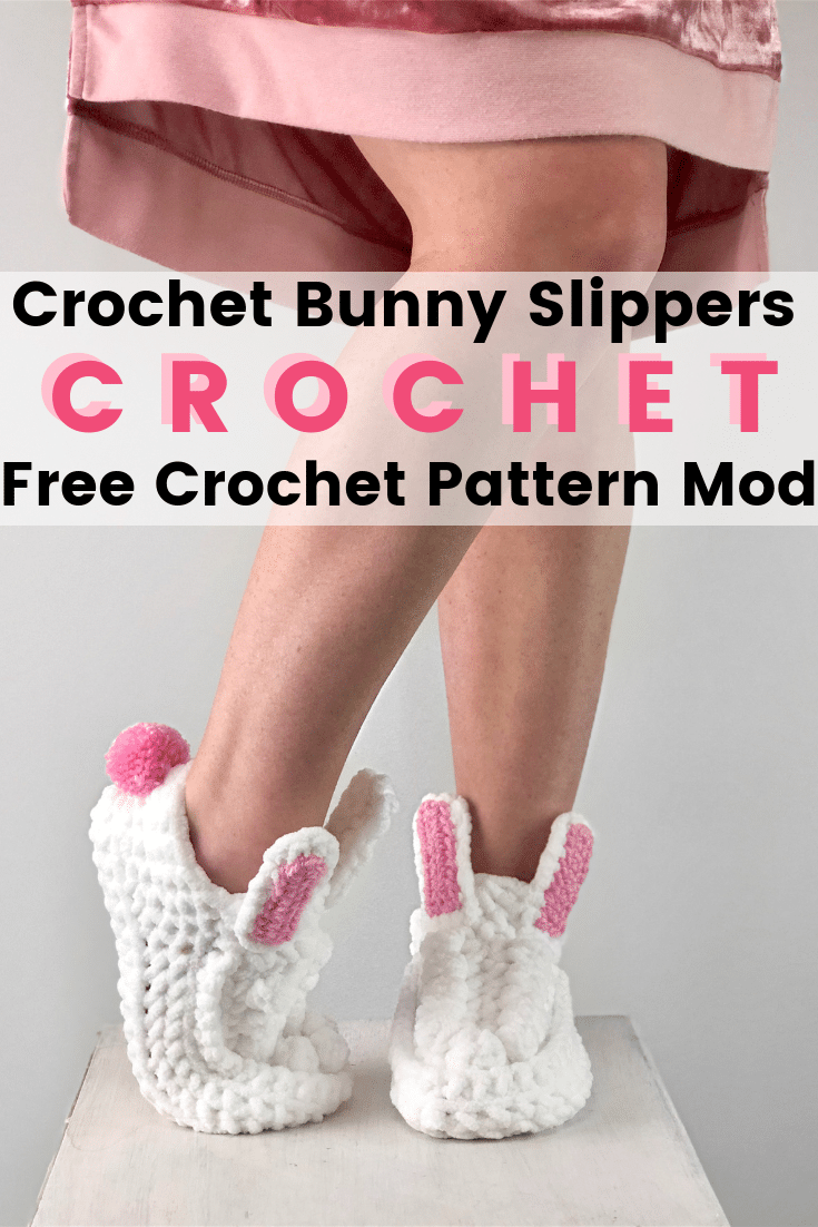 Women BOHO Bunny Slippers Free Crochet Patterns