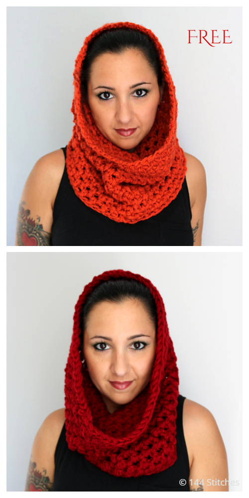 MC Cowl n' Snood Free Crochet Pattern