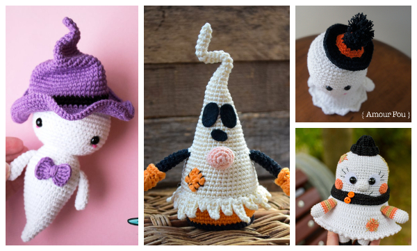 Halloween Amigurumi Ghost Free Crochet Patterns & Paid