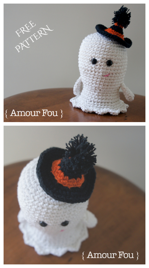 Halloween Amigurumi Boo, the Ghost Free Crochet Patterns