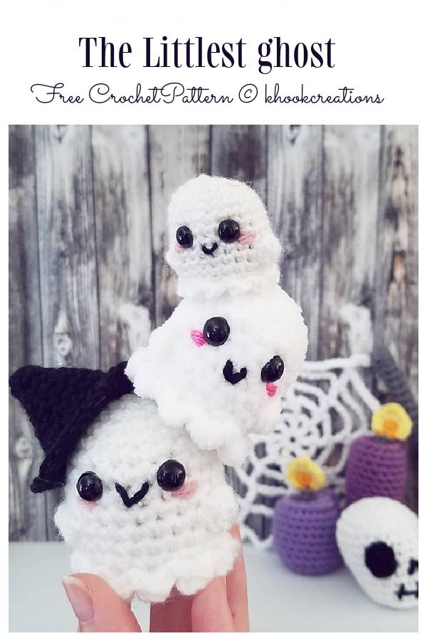 Halloween Amigurumi the Little Ghost Free Crochet Pattern