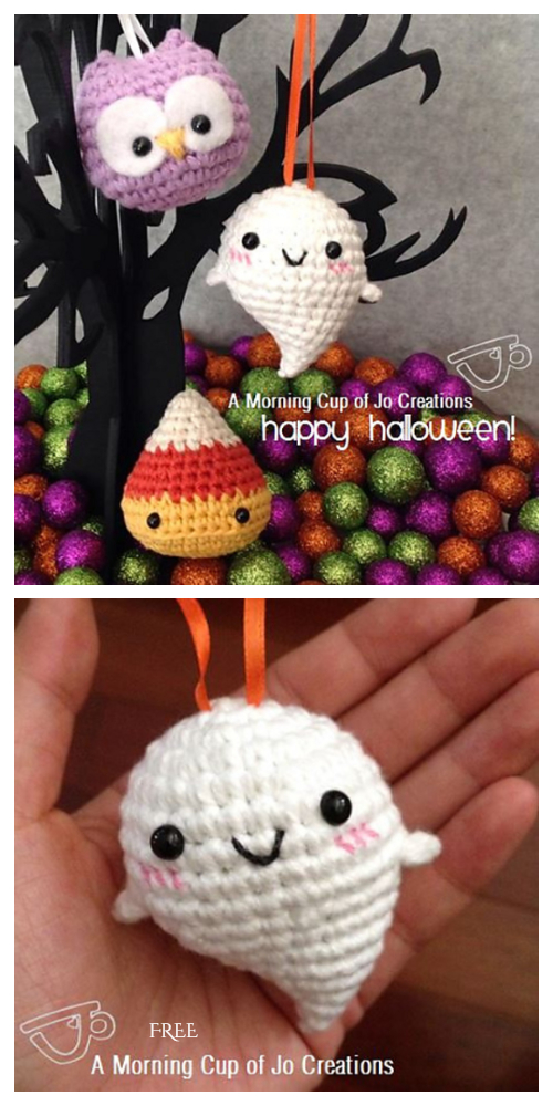 Halloween Baby Ghost Ornaments Free Crochet Patterns