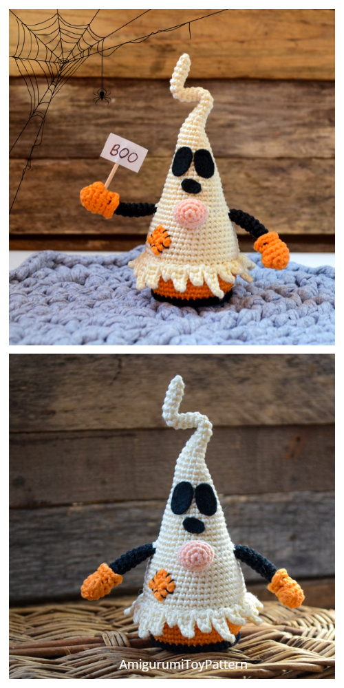 Amigurumi Ghost Gnome Crochet Patterns