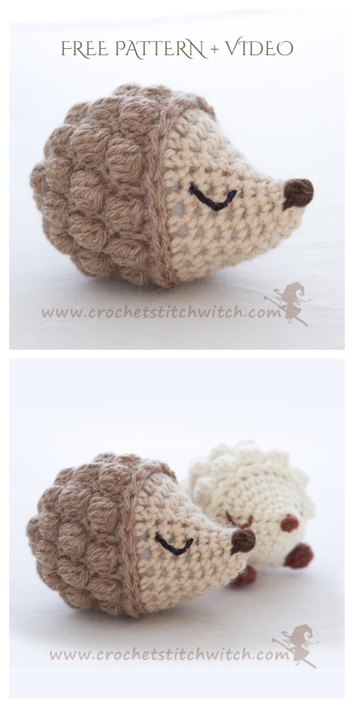 Crochet Diddy Hedgehog Amigurumi Free Pattern + Video