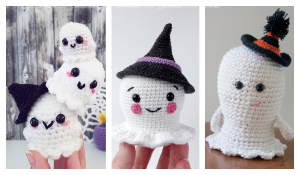 Halloween Amigurumi Ghost Free Crochet Patterns & Paid