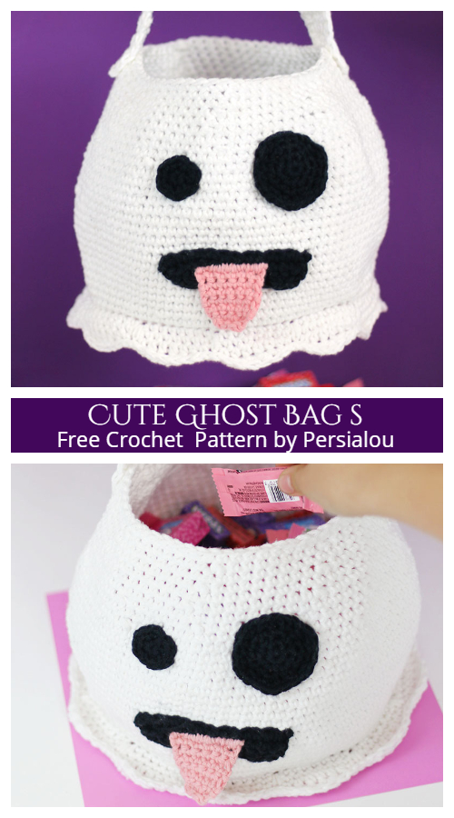 Cute Ghost Crochet Bag for Halloween By Persialou