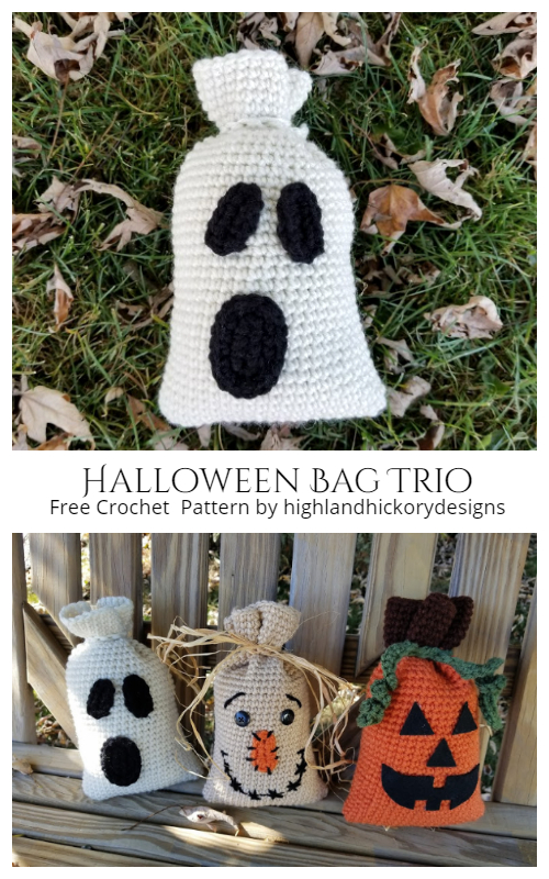Halloween Bag Trio Free Crochet Pattern