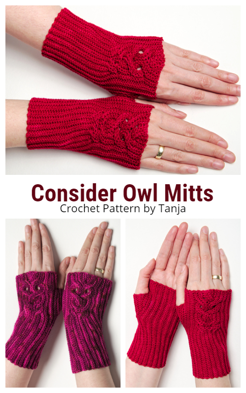 Consider Owl Mitts Crochet Patterns