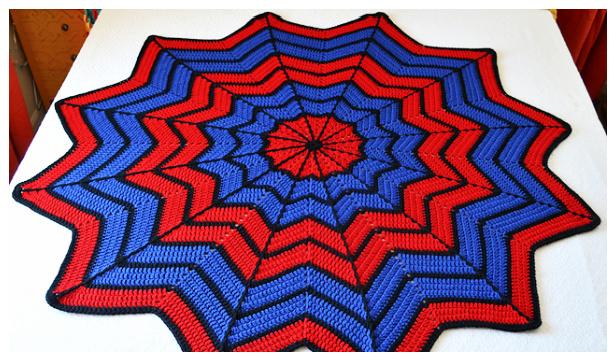 Spider Web Throw Blanket Free Crochet Patterns