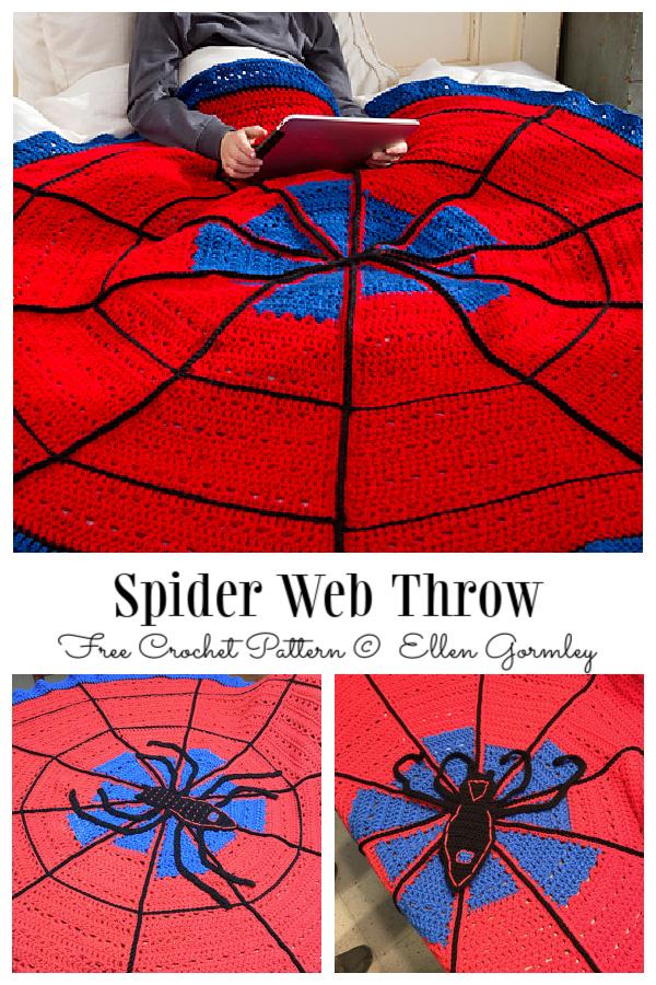 Spider Web Throw Blanket Free Crochet Pattern