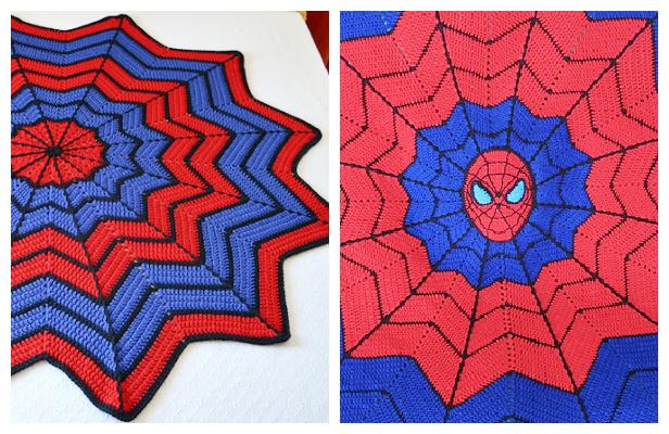 Spiderman Blanket Free Crochet Pattern