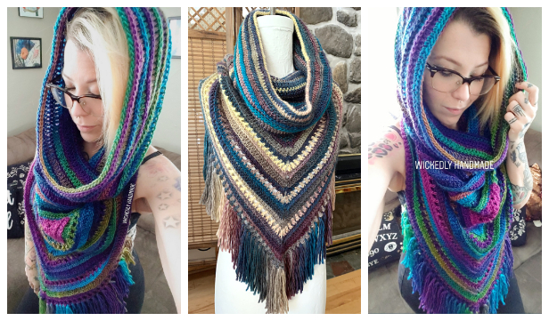 Adult Hooded Cowl Free Crochet Patterns & Paid