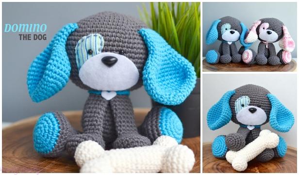 Amigurumi Domino The Dog Toy Crochet Pattern