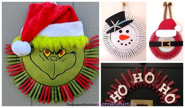 Christmas Craft: Clothespin Christmas Wreath DIY Tutorials