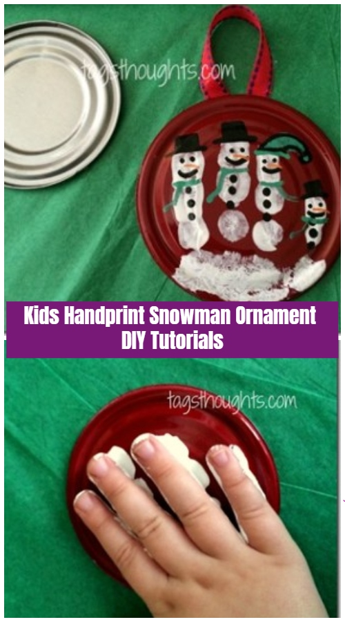 Christmas Craft: Kids Handprint Snowman Ornament DIY Tutorials