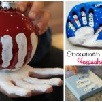 Christmas Craft: Kids Handprint Snowman Ornament DIY Tutorials