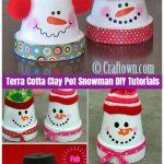 Christmas Crafts: Terra Cotta Clay Pot Snowman DIY Tutorials