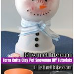 Christmas Crafts: Terra Cotta Clay Pot Frosty the Snowman Candy Jar DIY Tutorial