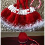 Christmas Crochet Baby Santa Hat and Skirt Crochet Patterns