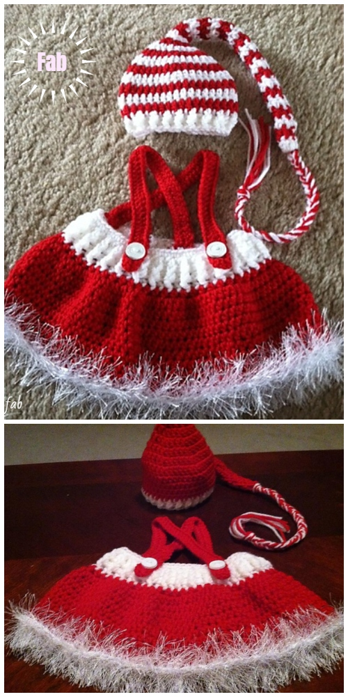 271d2b3f8 Christmas Crochet Holiday Baby Dress Free Crochet Patterns