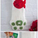 Christmas Crochet Cat Paw Stocking Free Crochet Pattern - Video tutorial