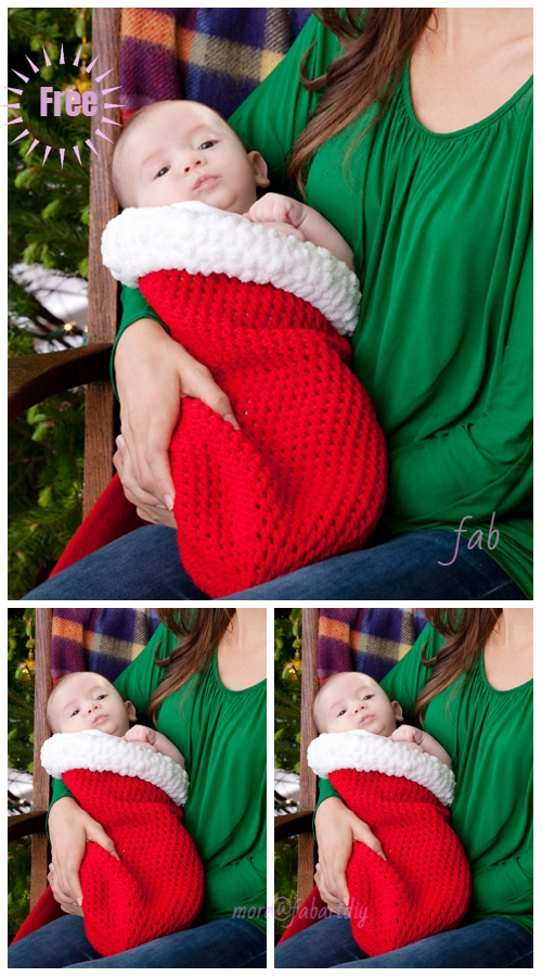 Christmas Crochet Holiday Baby Cocoon Free Crochet Pattern