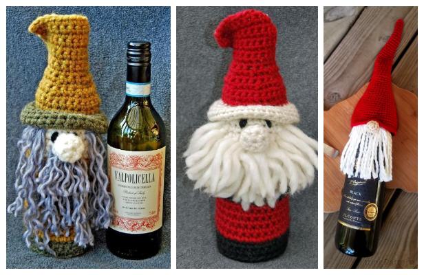 Crochet Bottle Buddy Gift Bags Free Crochet Pattern
