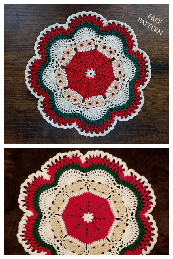Christmas Crochet Santa Doily Free Crochet Patterns