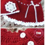 Crochet Christmas Infant Baby Dress Free  Crochet Pattern