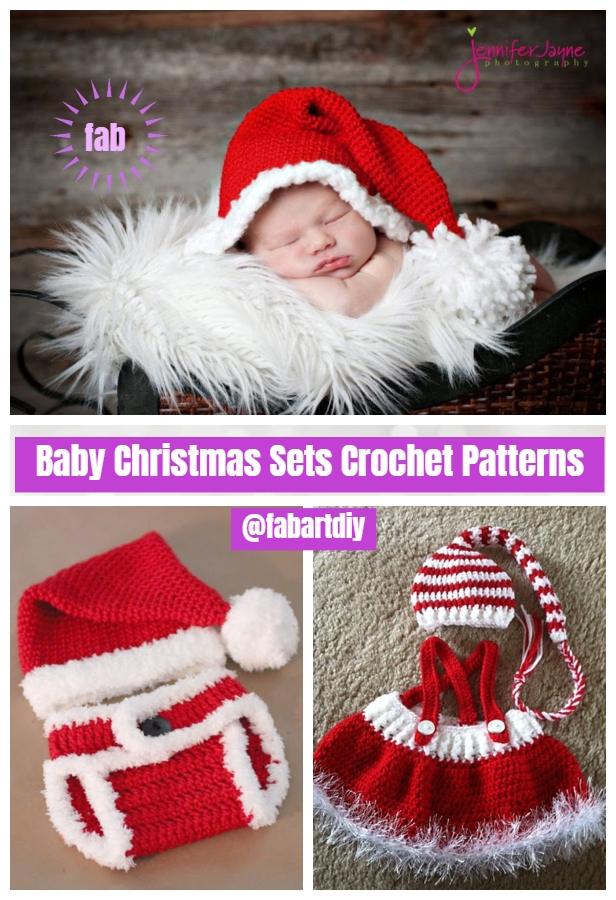 Crochet Baby Christmas Sets Free Patterns & Paid