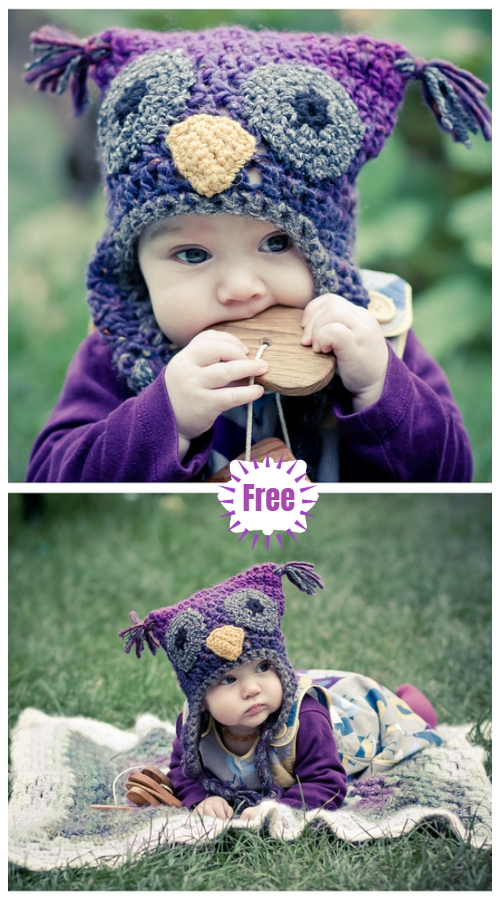 Crochet Baby Woolly Owl Hat Free Crochet Pattern
