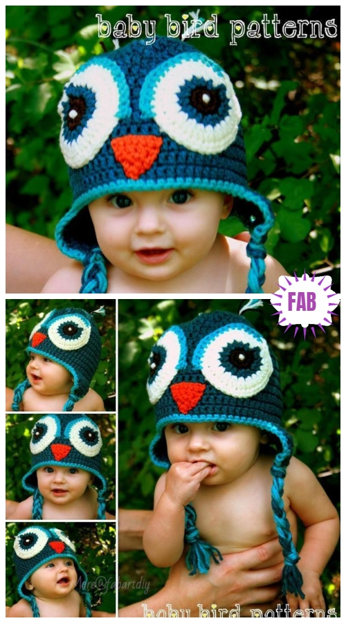 Crochet WHAT A HOOT Owl Hat Crochet Pattern
