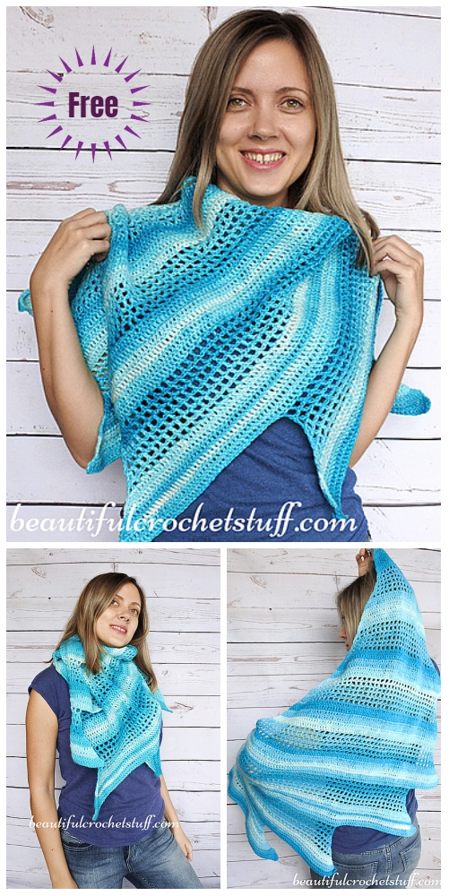 Crochet Bactus Scarf Shawl Free Crochet Pattern