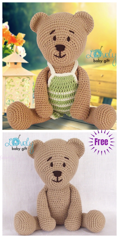 Crochet Teddy BearToy Plushie Amigurumi Free Pattern